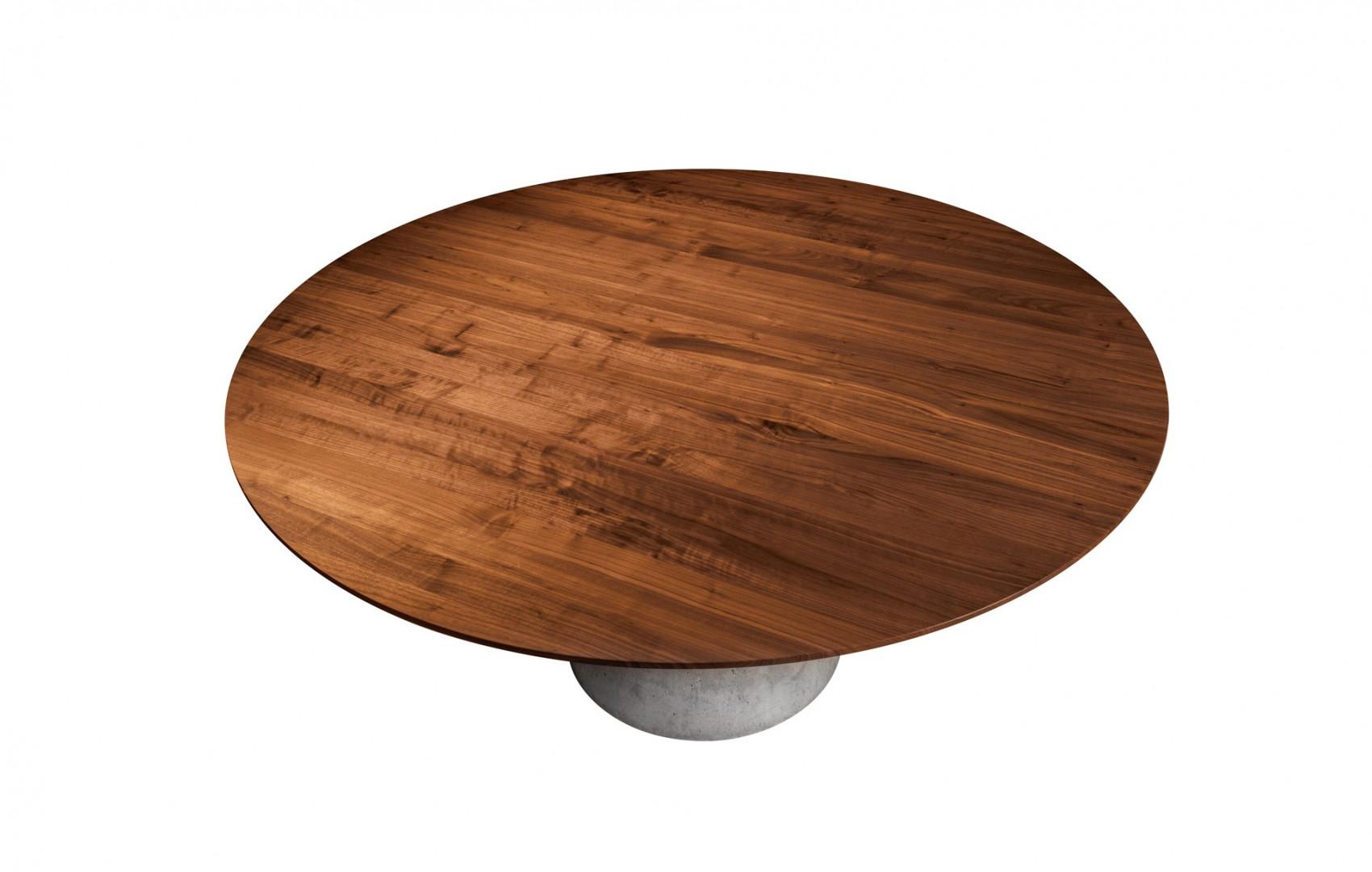 okrúhly jedálenský stôl TAP z masívneho orechového dreva