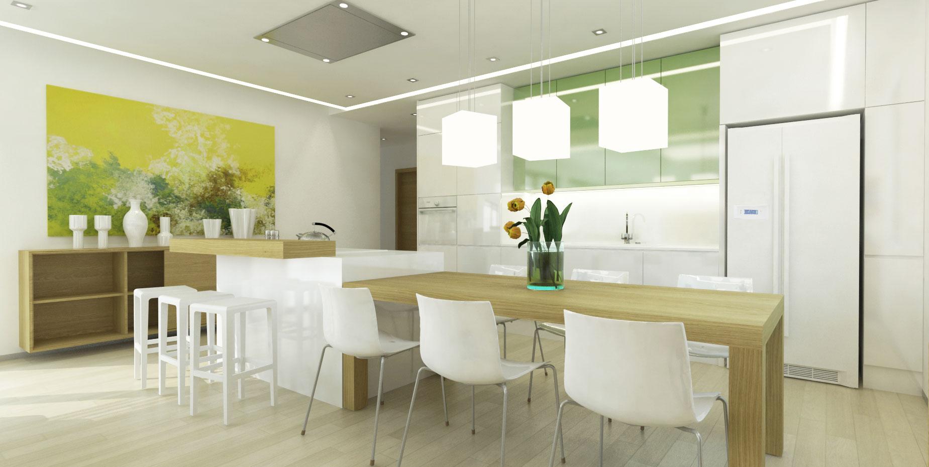 návrh interiéru rodinného domu - kuchyňa