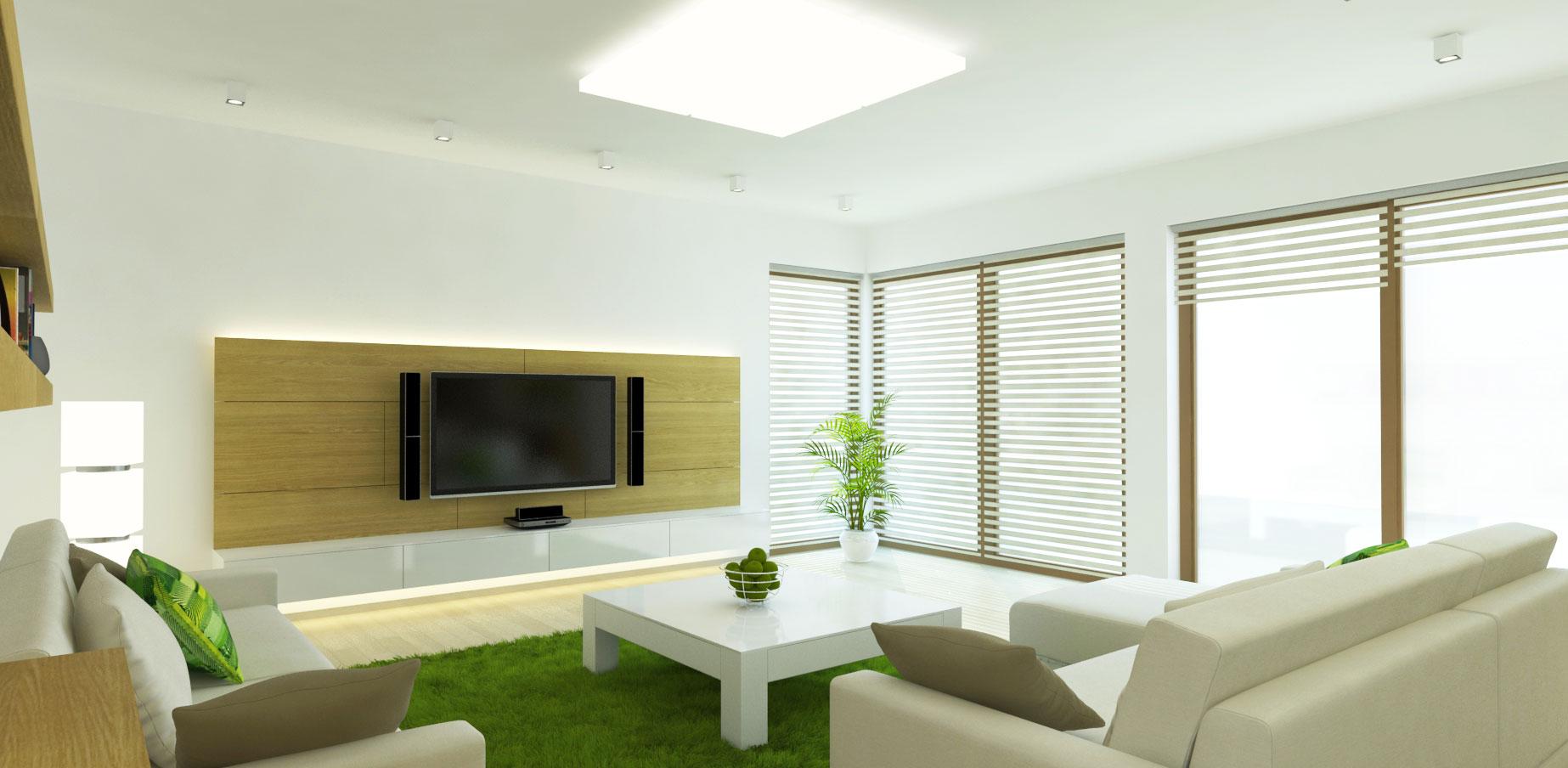 návrh interiéru rodinného domu - obývačka