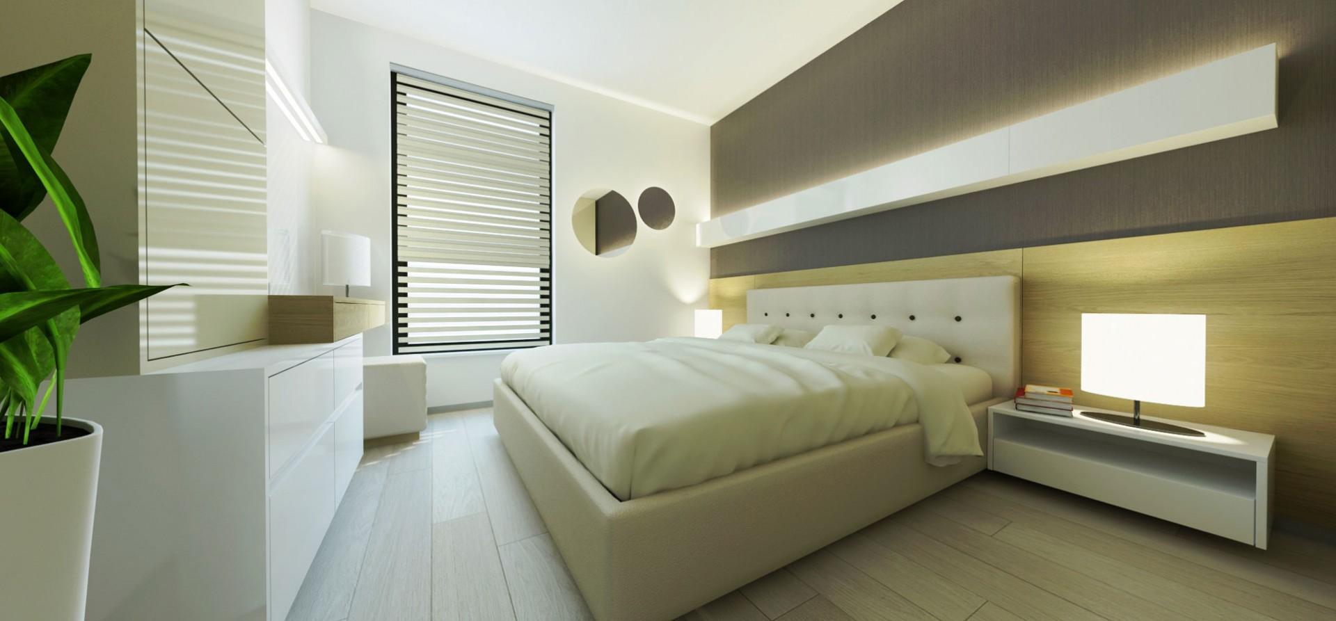 návrh interiéru rodinného domu - spálňa