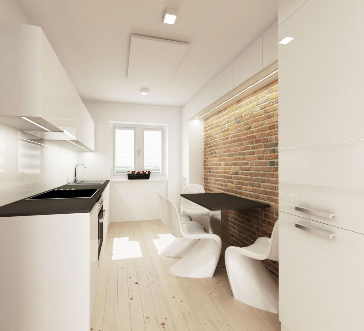 návrh interiéru bytu - kuchyňa a jedáleň