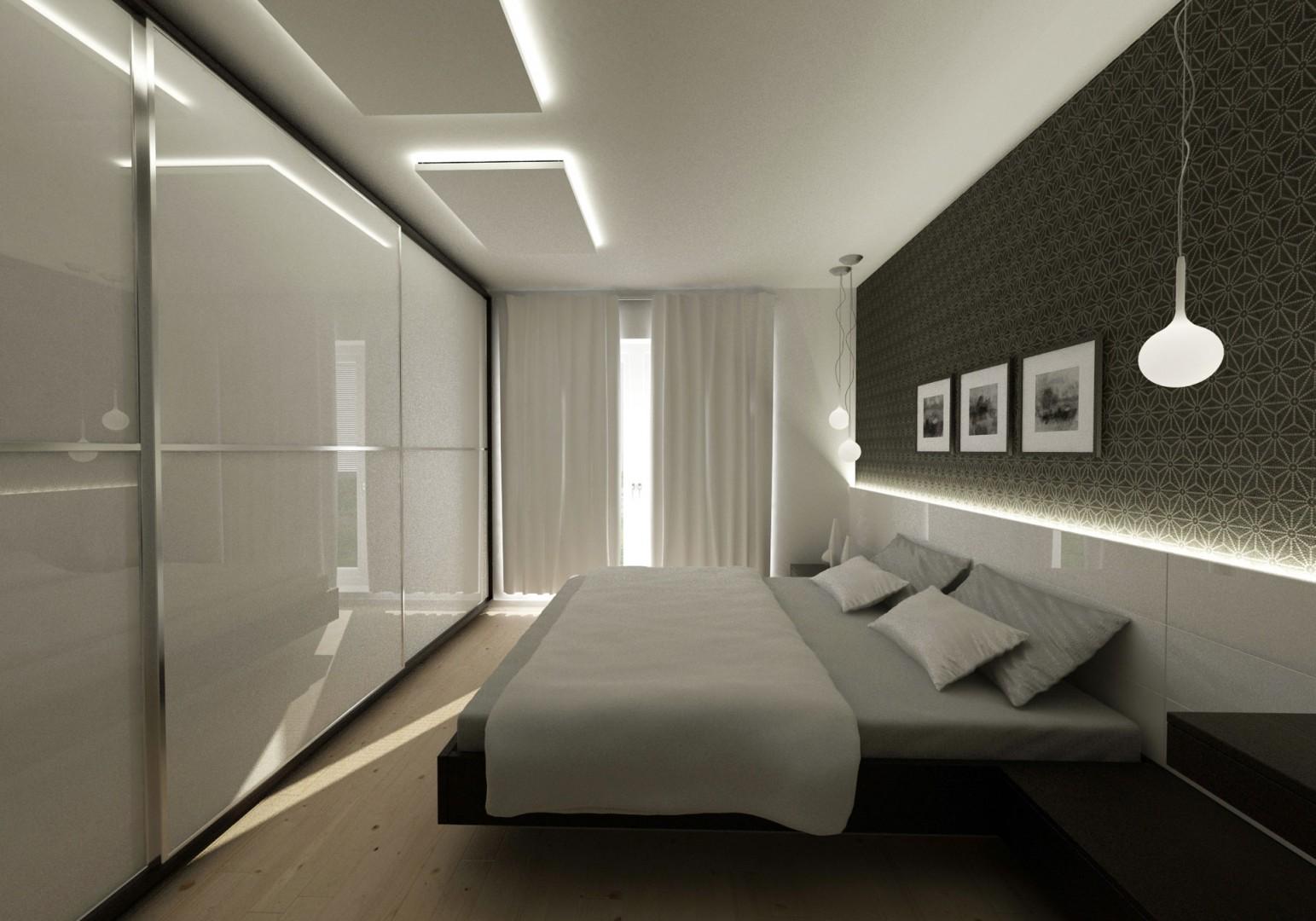 návrh interiéru bytu - spálňa so šatníkom