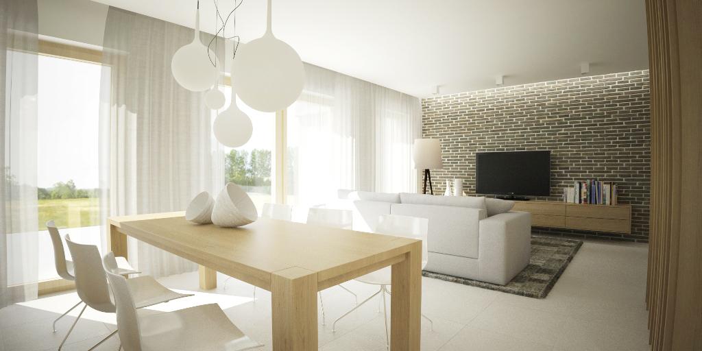Návrh interiéru domu - jedáleň