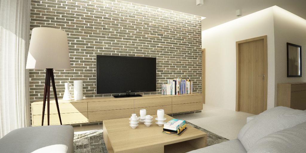 Návrh interiéru domu - obývačka