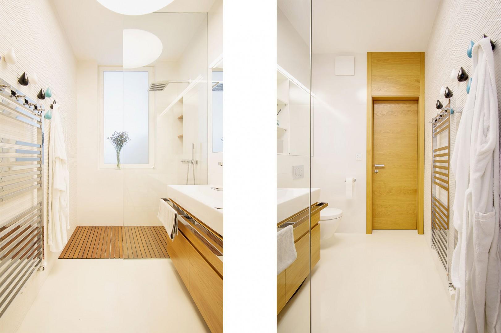 realizacia interieru rodinneho domu - vyroba nabytku do kupelne na mieru a vyroba interierovych dveri na mieru