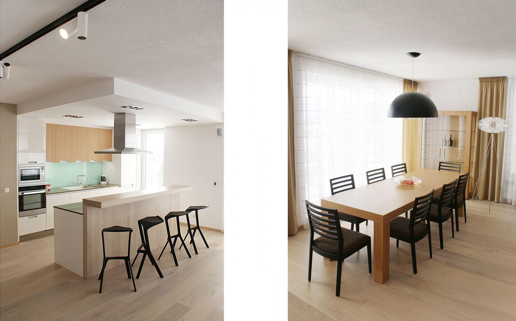 Návrh a realizácia interiéru bytu Zvolen, výroba nábytku Zvolen, kuchyňa na mieru Zvolen