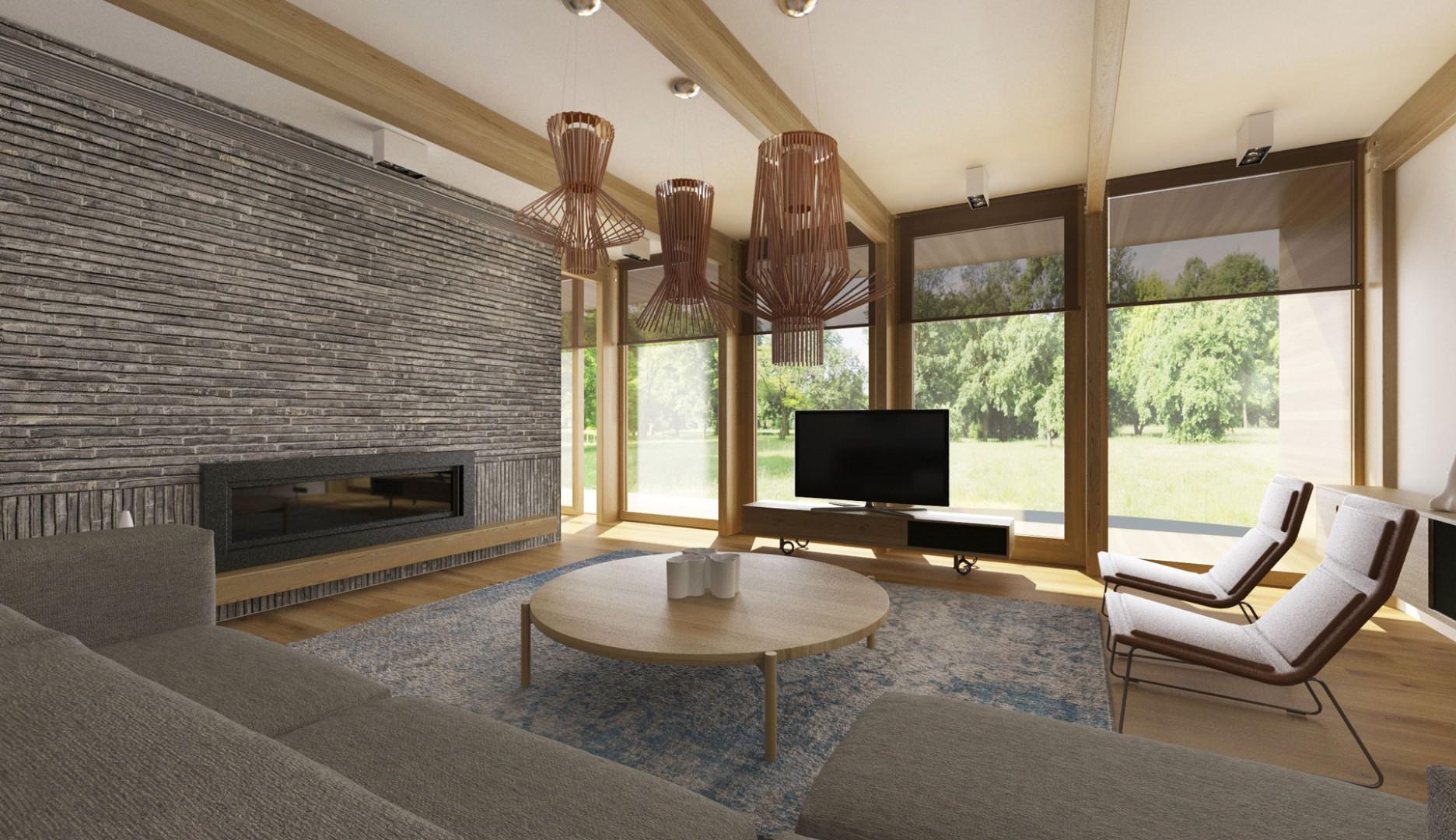 Návrh interiéru moderného drevodomu v Banskej Bystrici. Dizajn interiéru modernej drevostavby.